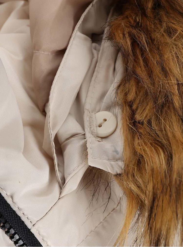 Béžová bunda s kapucí VERO MODA Kelly