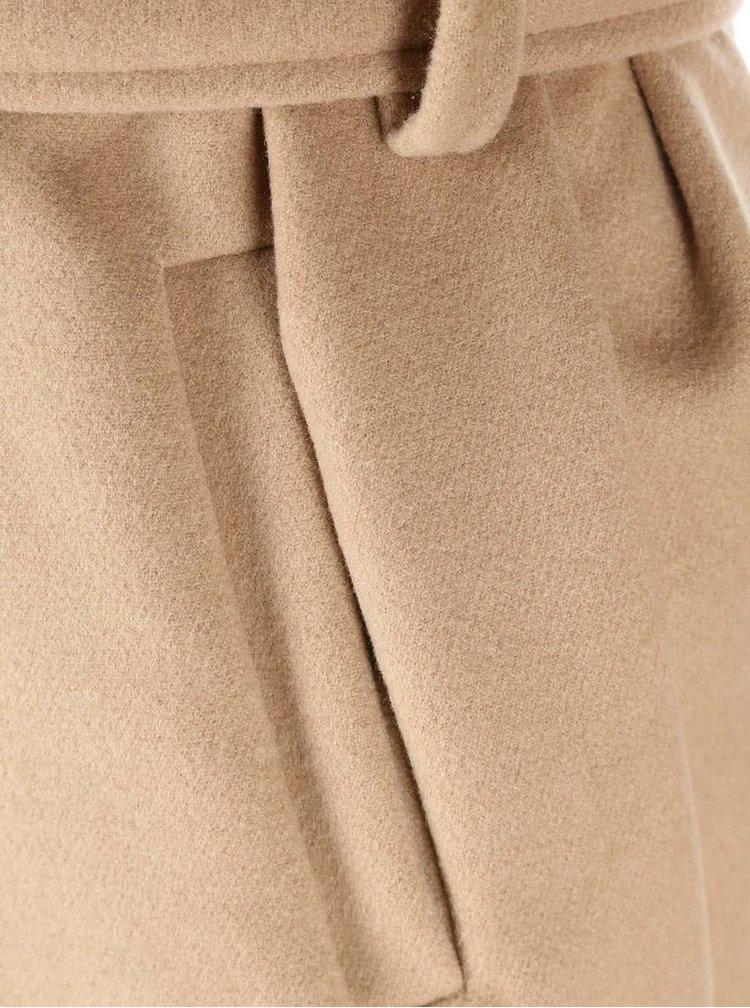 Světle hnědý dámský kabát Madonna Dobra