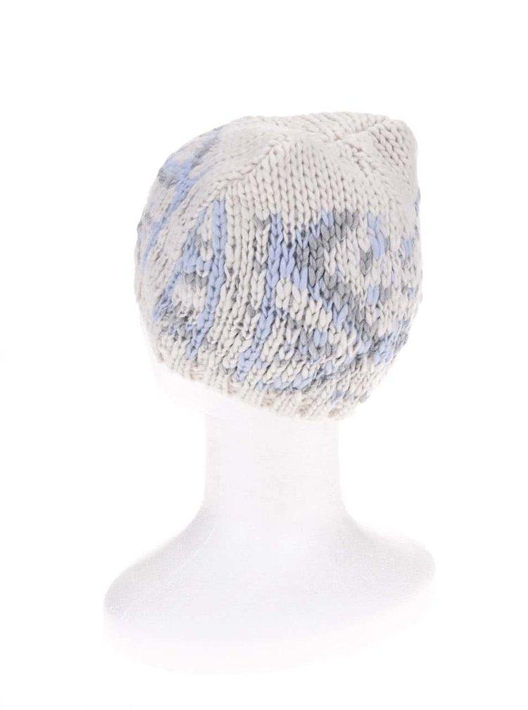 Krémová čepice se vzorem s.Oliver