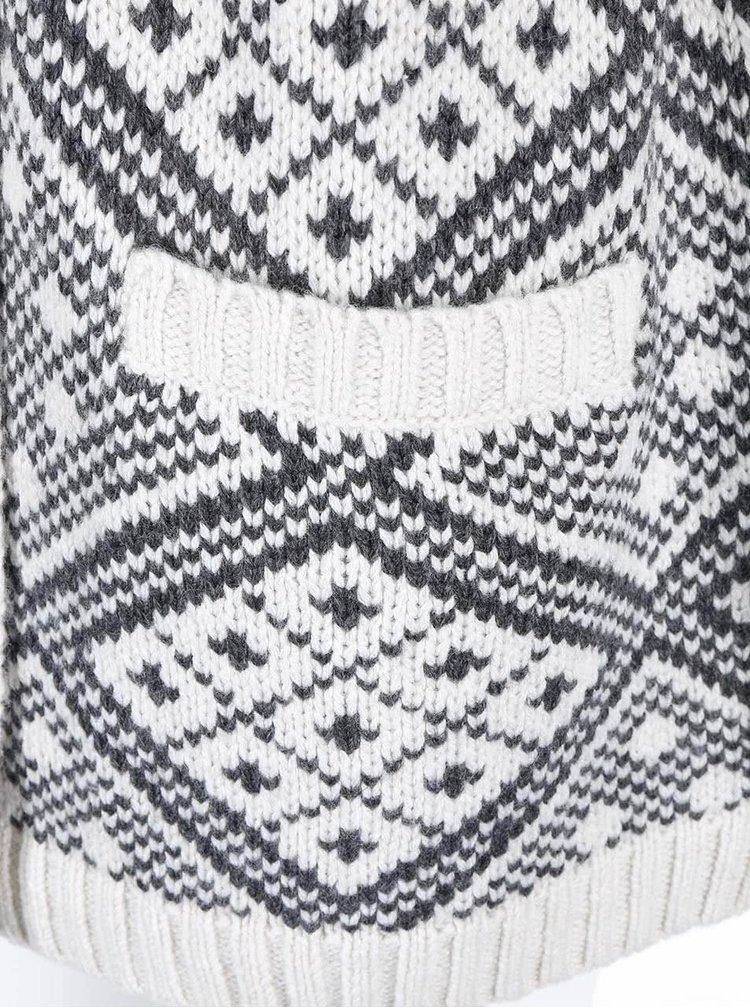 Krémovo-hnedý dámsky kardigan so vzorom s.Oliver