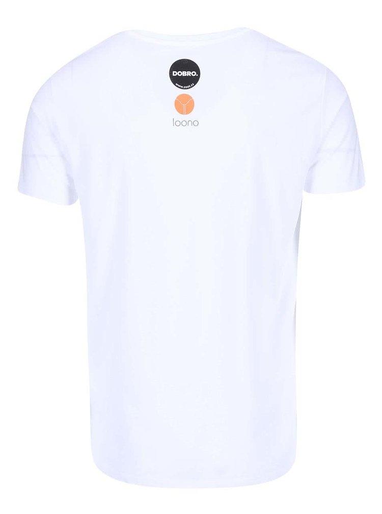 """""""Dobré"""" bílé pánské tričko pro Loono"""