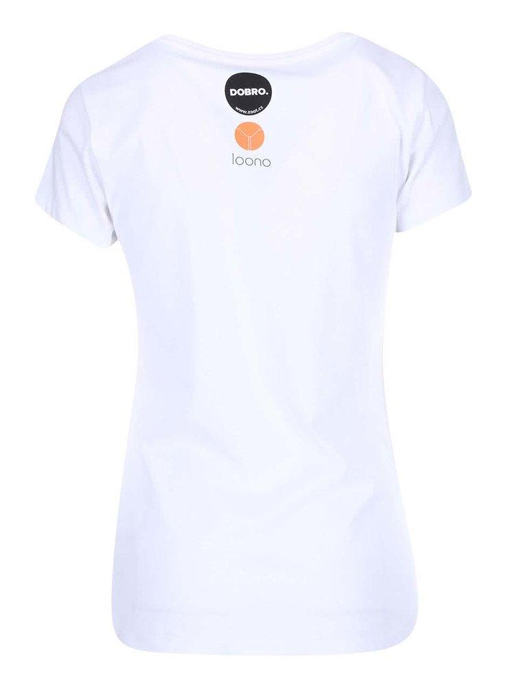 """Dobré"" biele dámske tričko pre Loono"