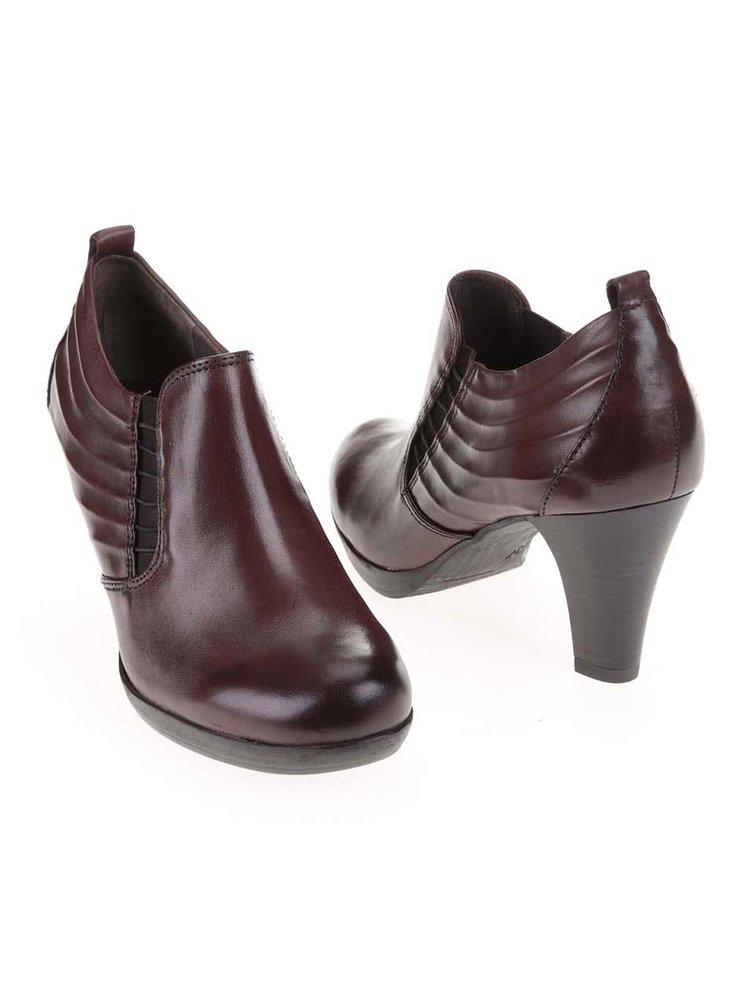 Pantofi din piele cu toc maro de le Tamaris