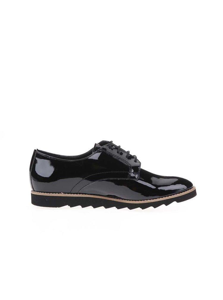 Pantofi luciosi negri OJJU