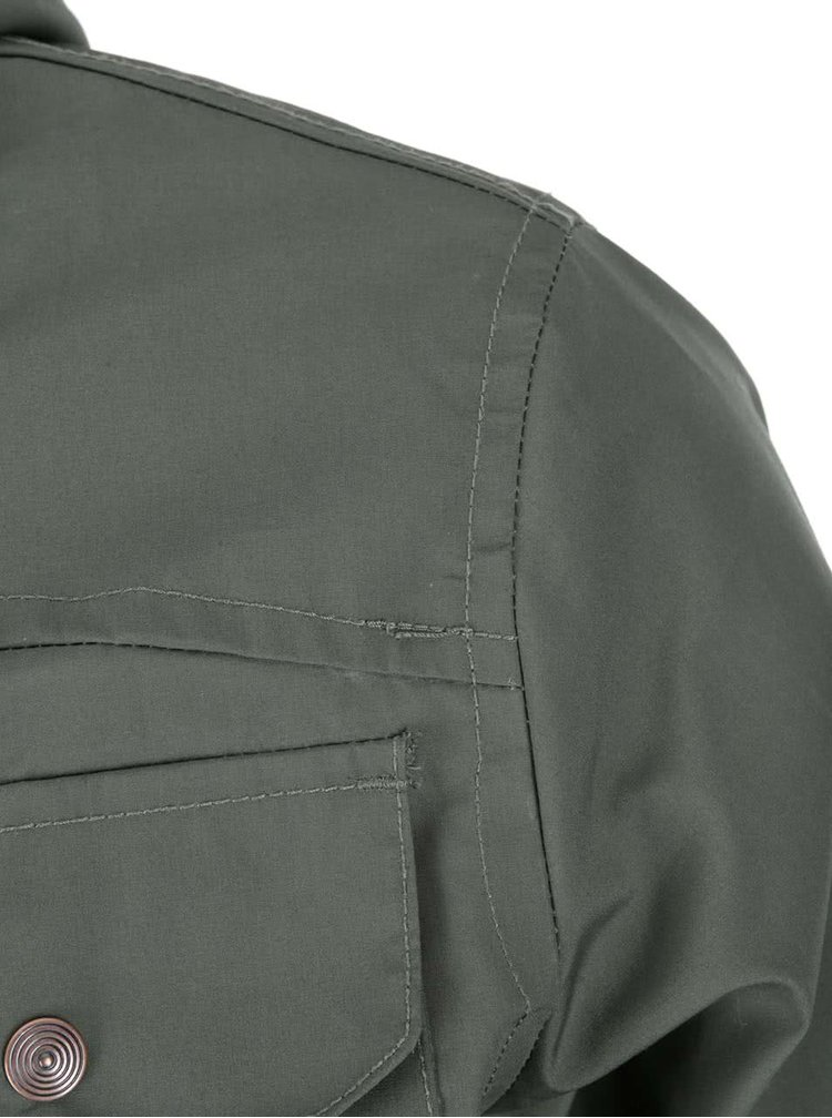 Tmavozelená bunda s podšívkou !Solid Pisanio
