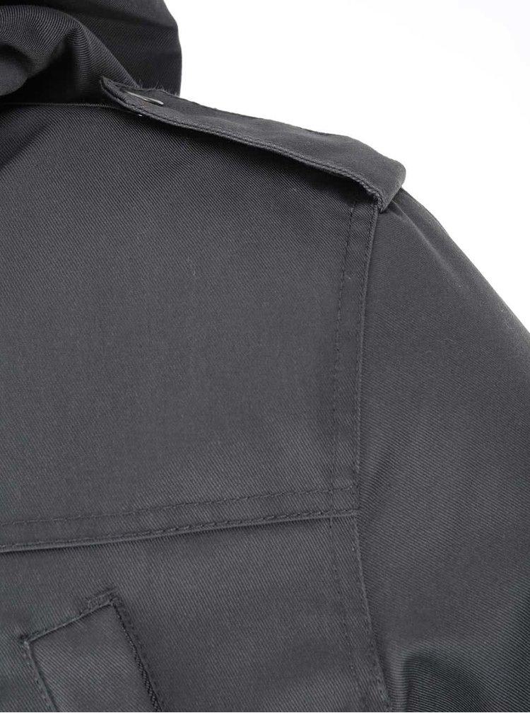 Tmavě šedá bunda s podšívkou !Solid Rhymer