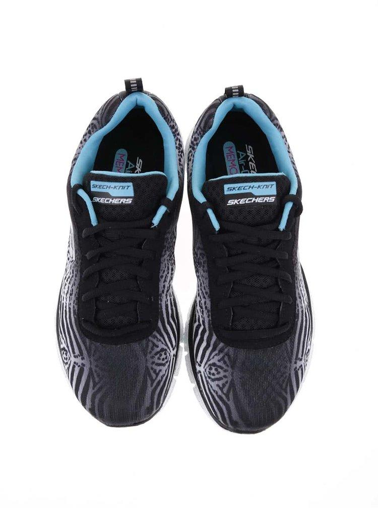 Pantofi sport de damă de la Skechers Surf Safari - alb cu negru