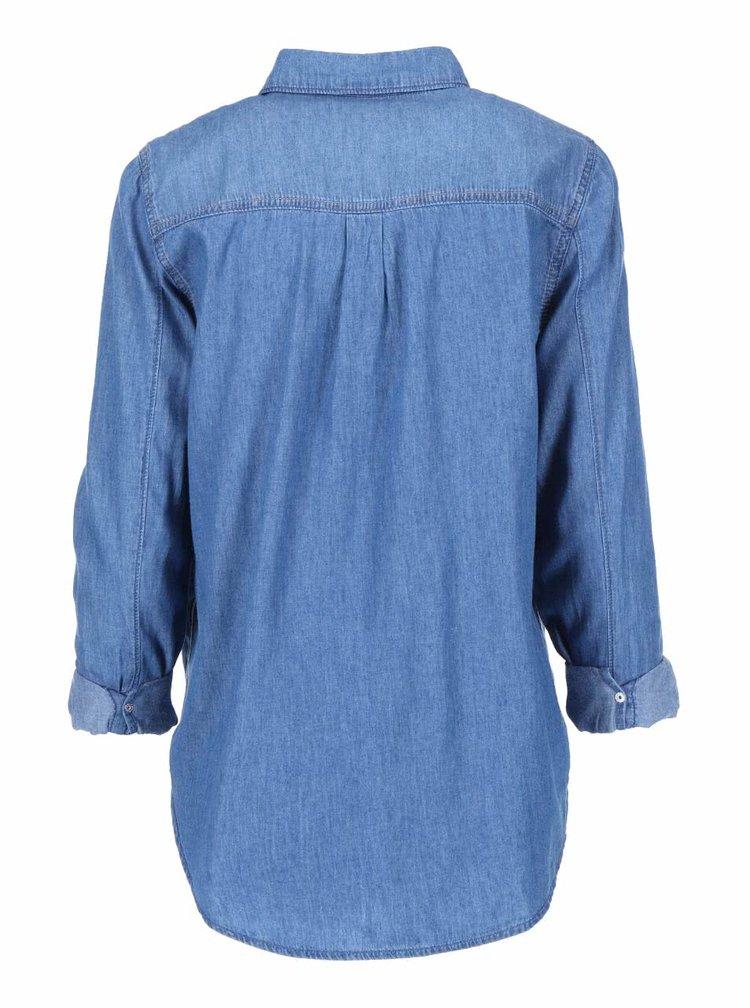 Modrá denimová košeľa New Look