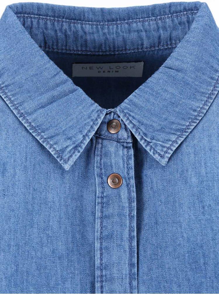 Modrá denimová košile New Look