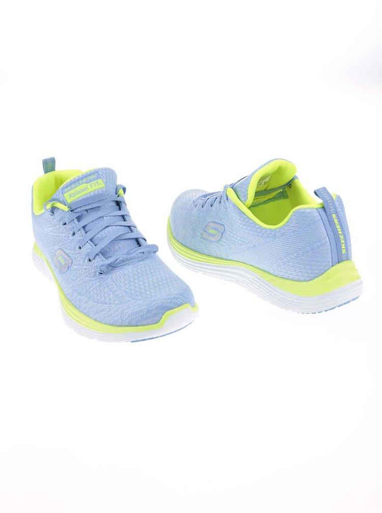 Zeleno-modré dámske športové tenisky Skechers Valeris