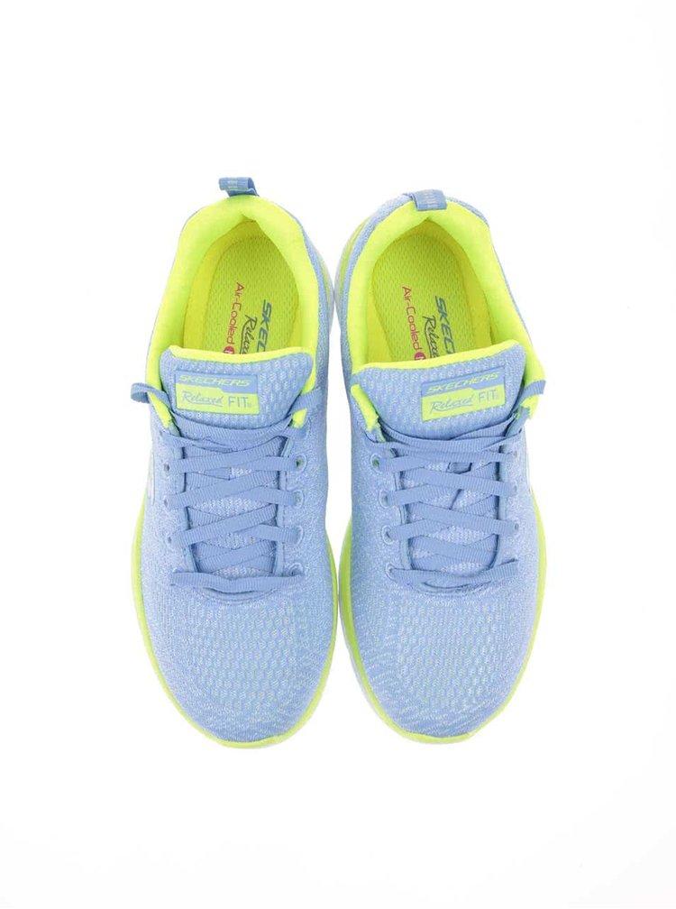 Zeleno-modré dámské sportovní tenisky Skechers Valeris
