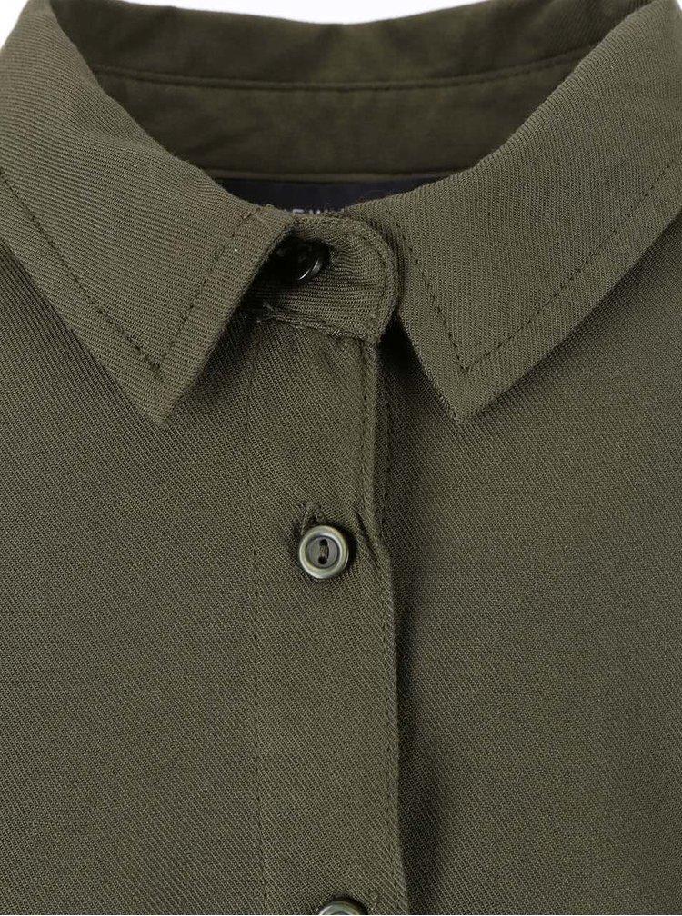 Khaki volnější košile New Look