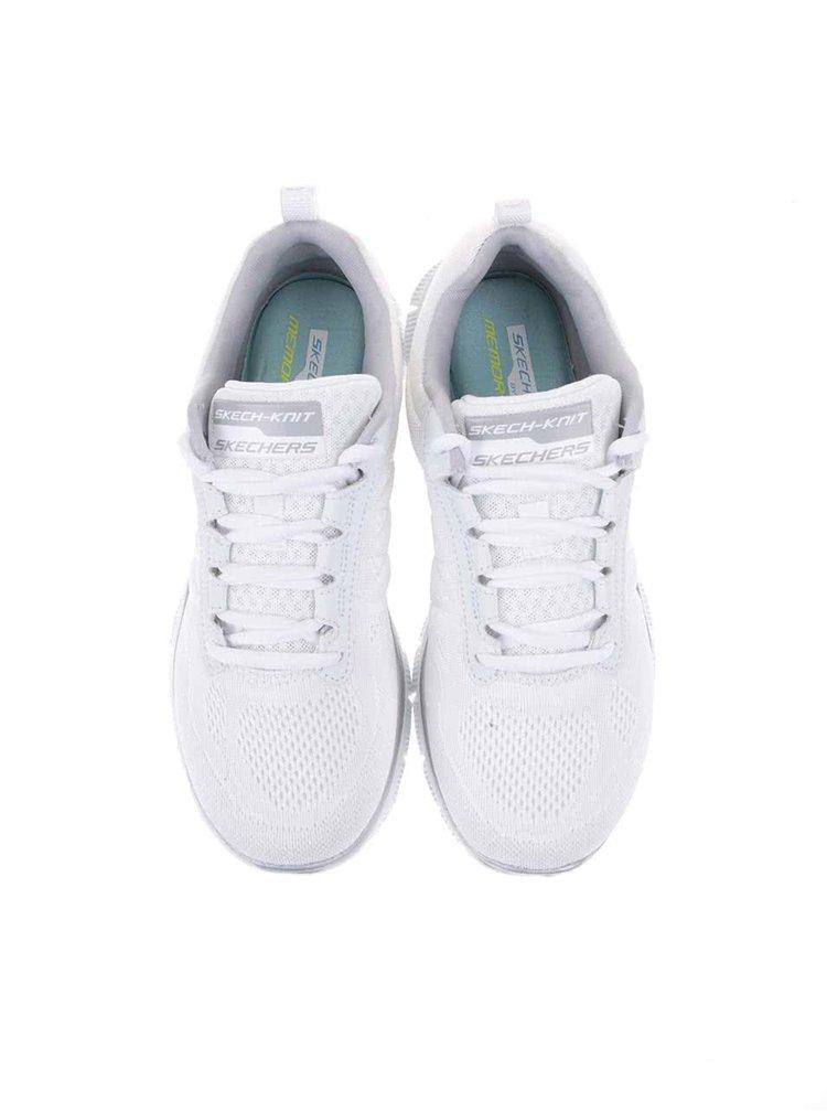 Strieborno-biele dámske športové tenisky Skechers Sweet Spot