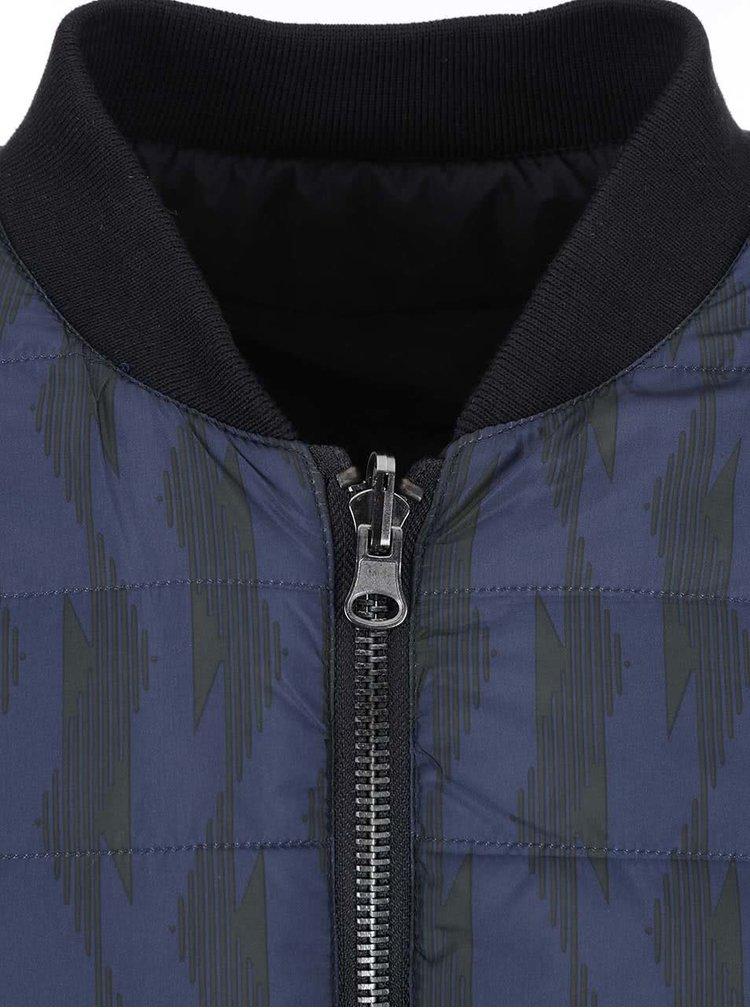Tmavomodrá vzorovaná bunda Casual Friday by Blend