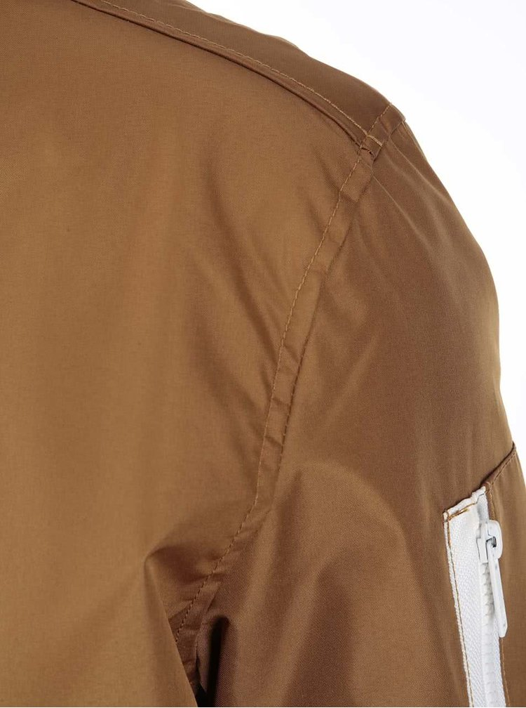 Hnedá bunda s podšívkou !Solid Renzo