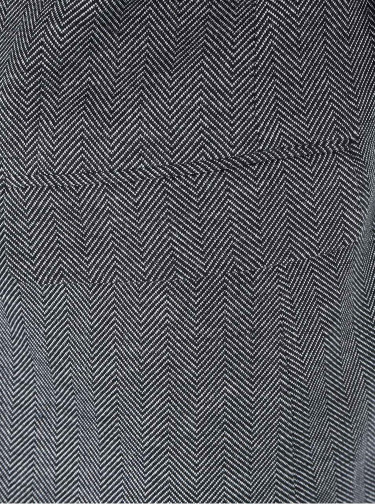 Šedočerný vzorovaný blejzr Casual Friday by Blend
