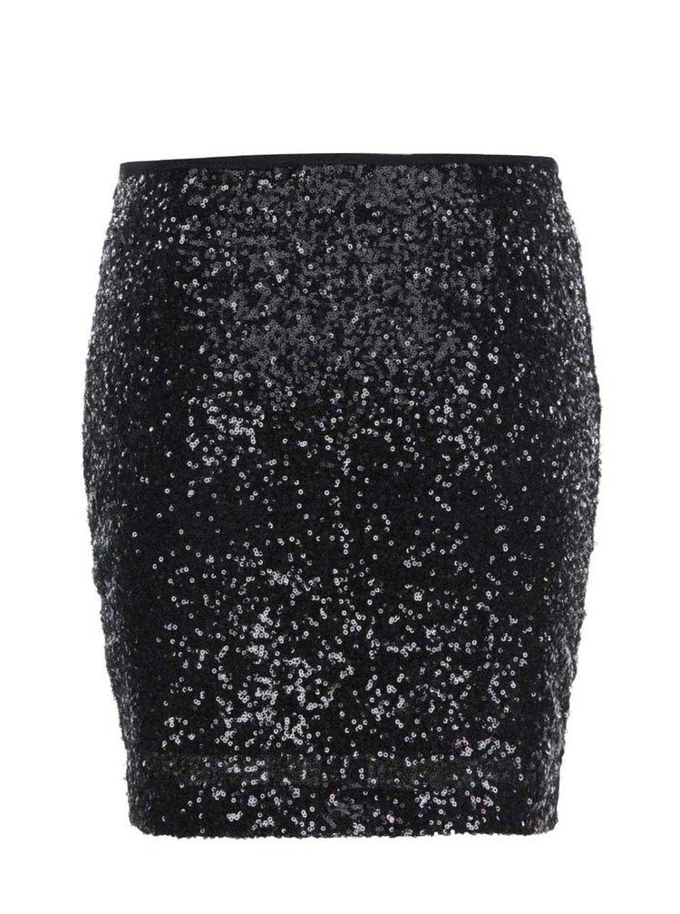 Černá sukně s flitry ONLY Kastello