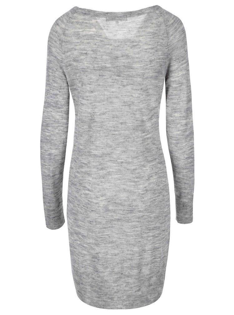 Svetlosivé šaty s dlhým rukávom ONLY Serena