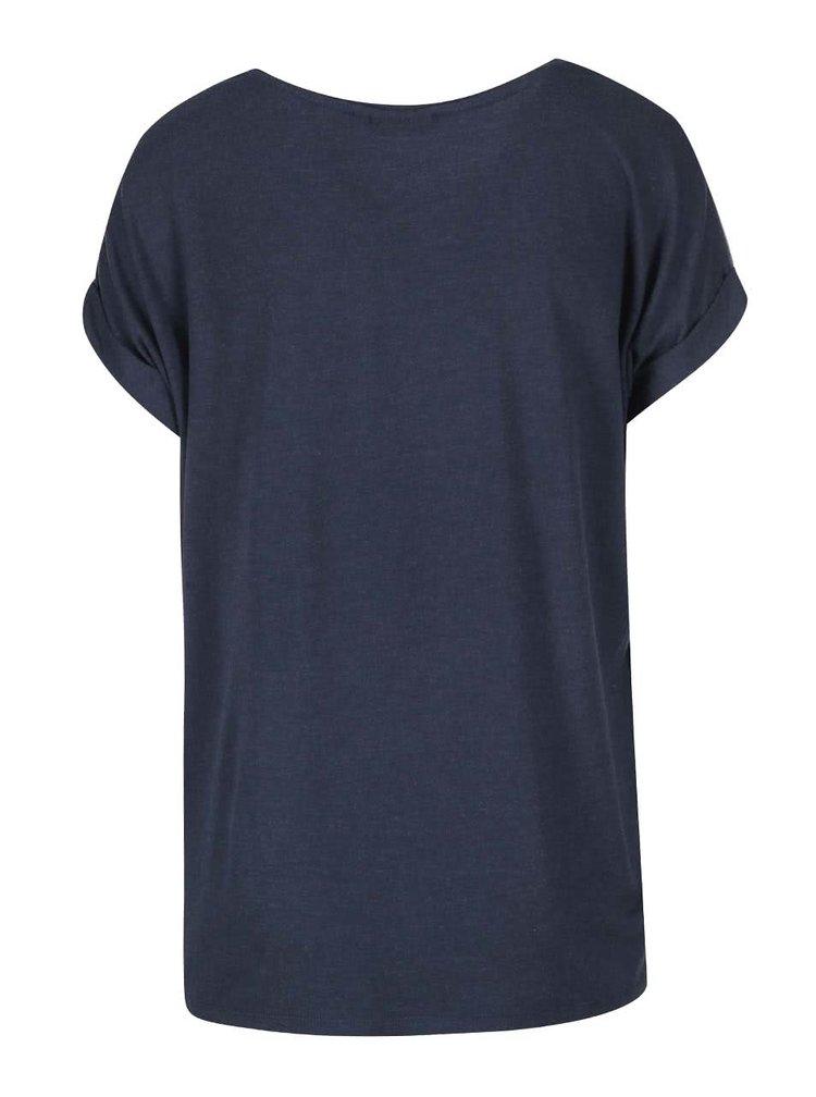 Modré voľné tričko ONLY Moster