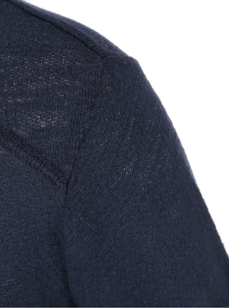 Tmavě modré triko s 3/4 rukávem ONLY Jess
