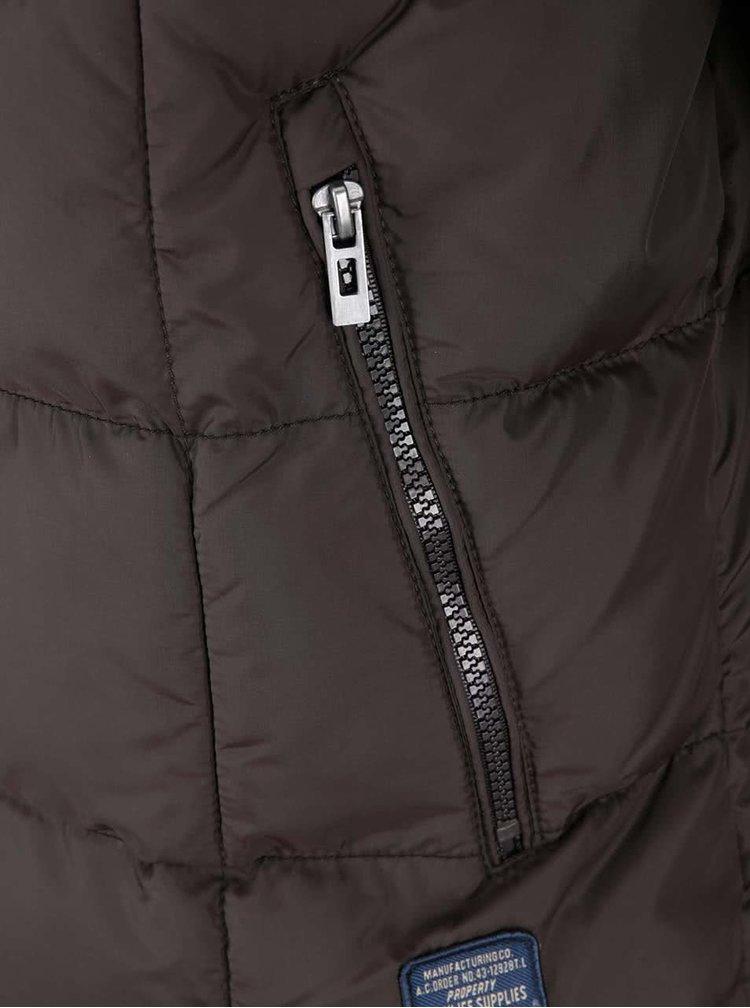 Hnědá bunda s khaki detailemTwinlife