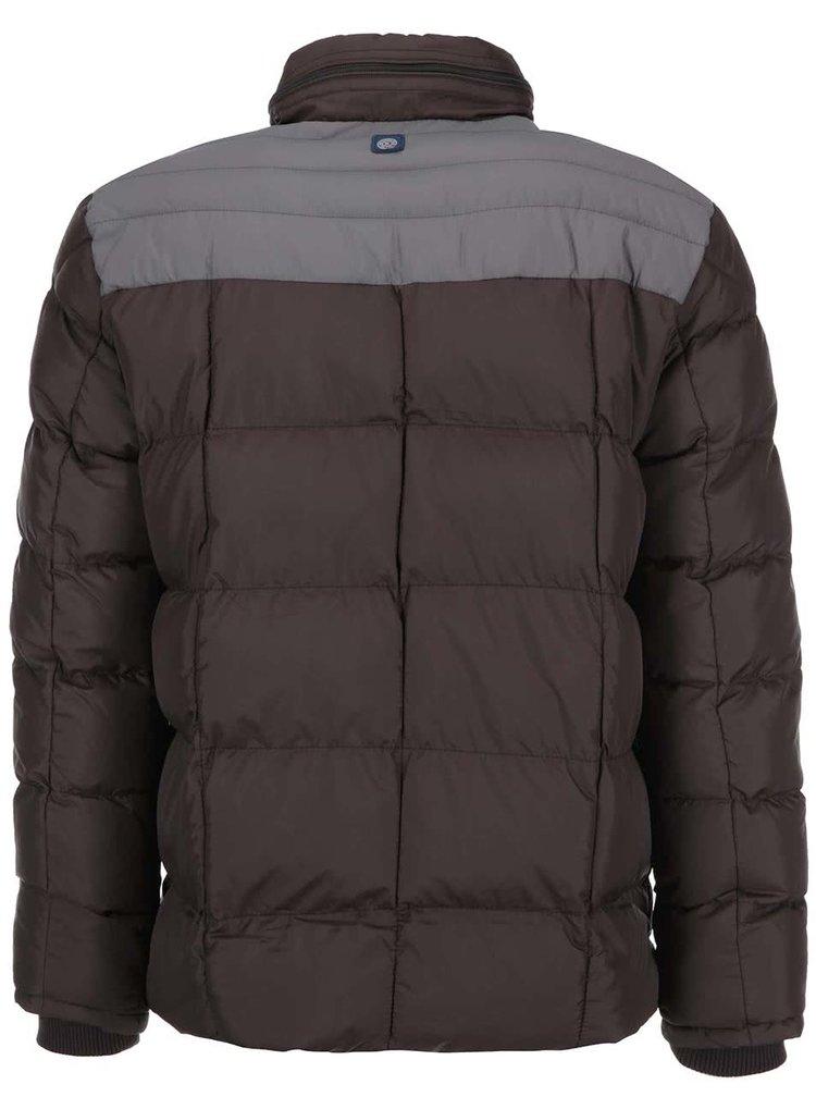 Jachetă maro cu detalii kaki Twinlife