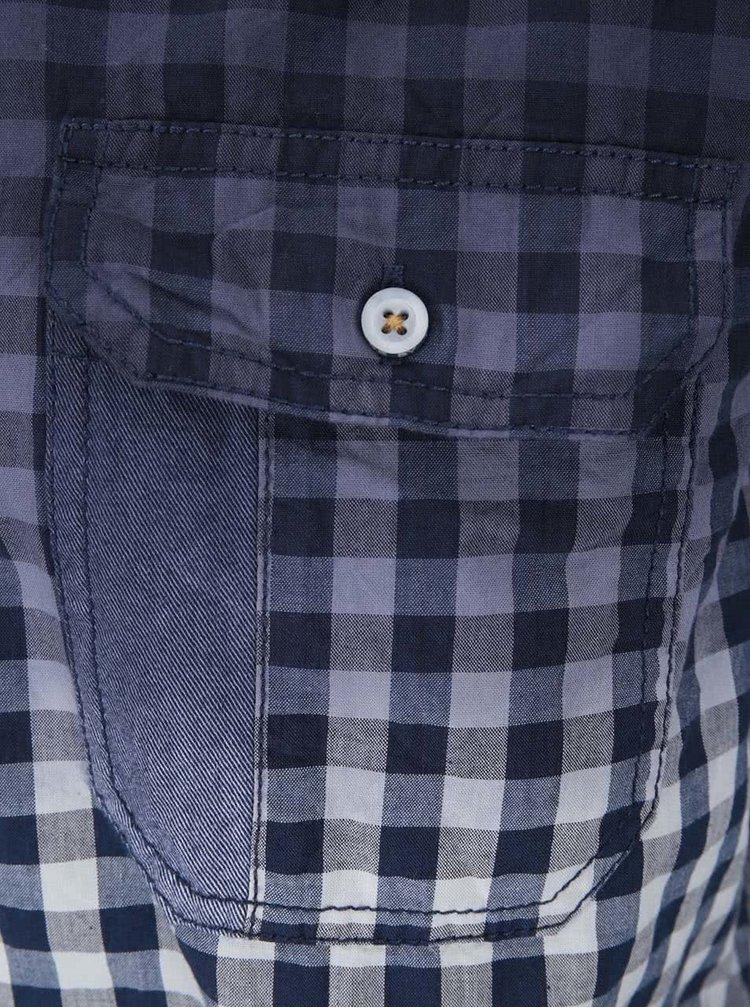 Bielo-modrá károvaná regular fit košeľa Twinlife