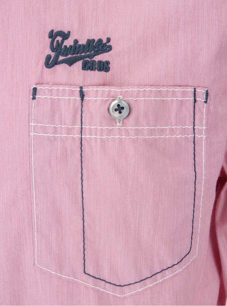 Ružová regular fit košeľa Twinlife