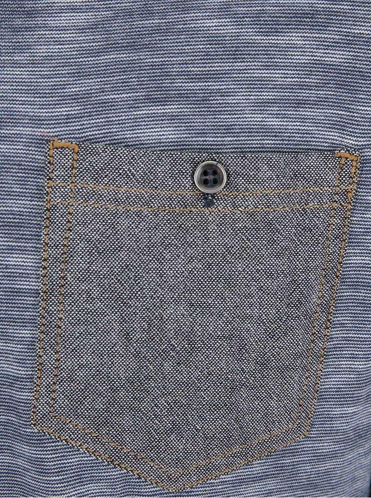Tricou albastru cu maneci lungi Twinlife