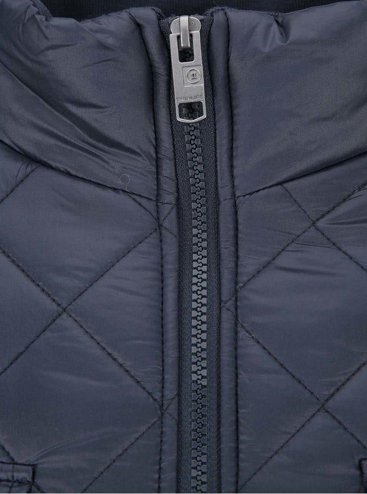 Modrá prošívaná bunda Twinlife