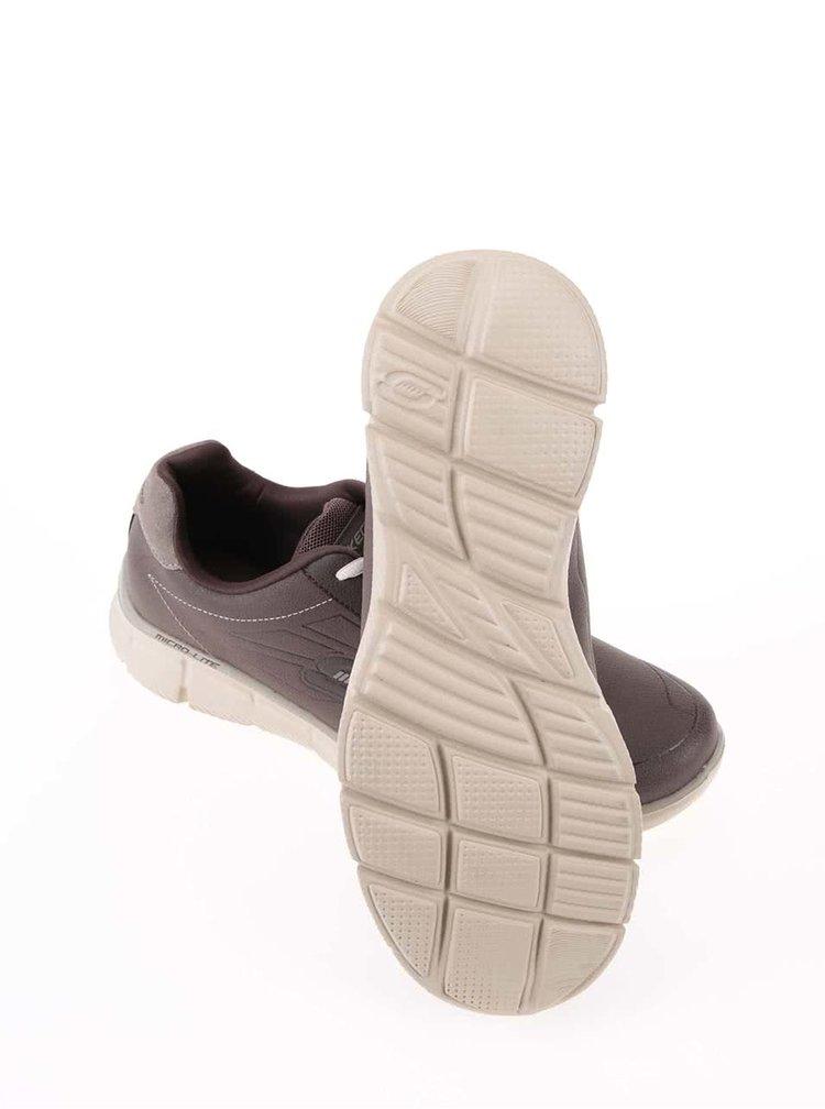 Pantofi sport Equalizer, barbatesti de la Skechers - maro