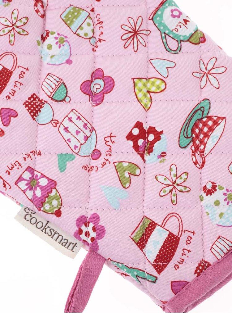 Růžová chňapka Cooksmart Cupcakes