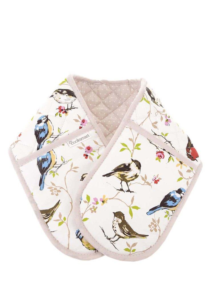 Biele chňapky s vtáčikmi Cooksmart Dawn Chorus
