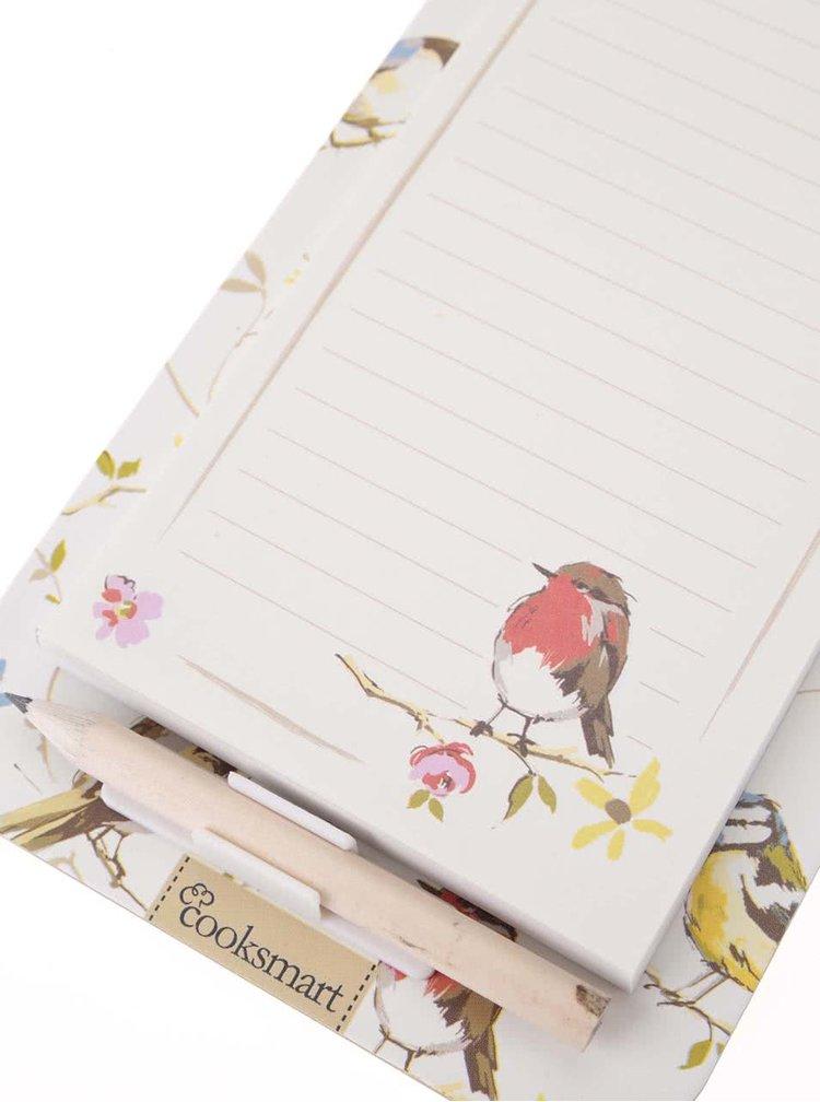 Zápisník na chladničku s vtáčikmi Cooksmart Dawn Chorus