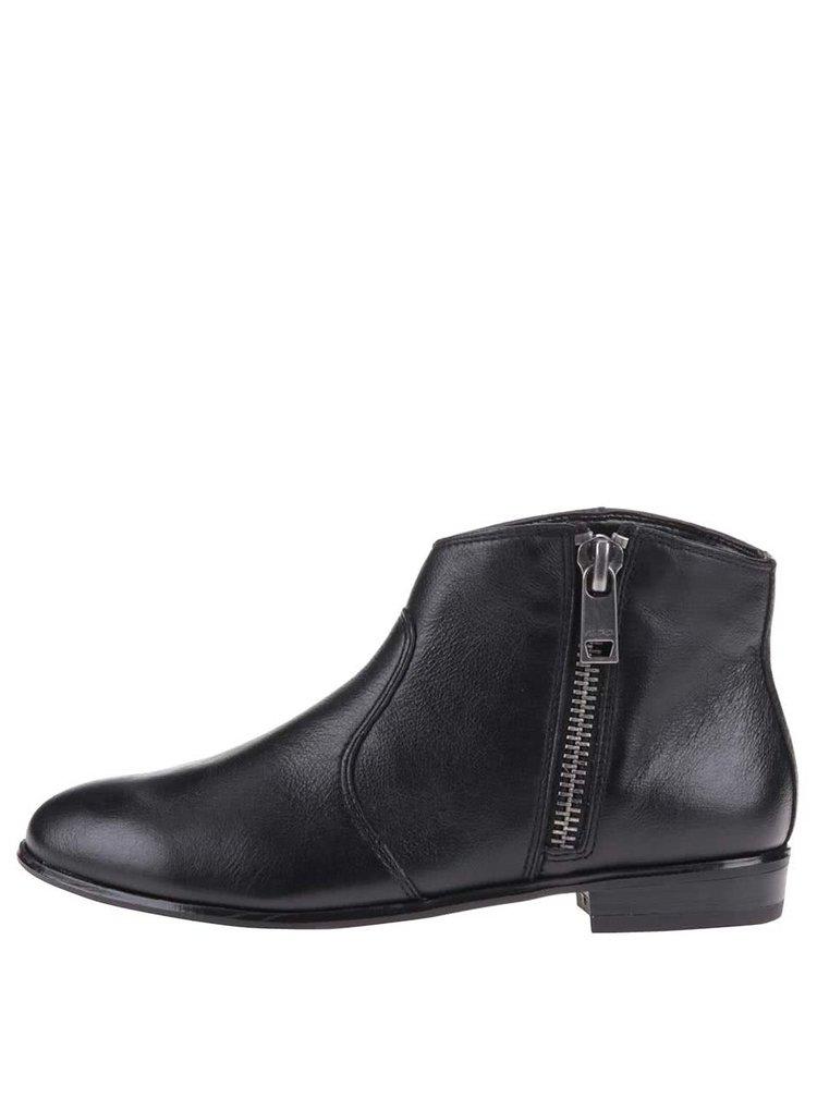 c2c0ecce37 Čierne dámske kožené členkové topánky ALDO Allison