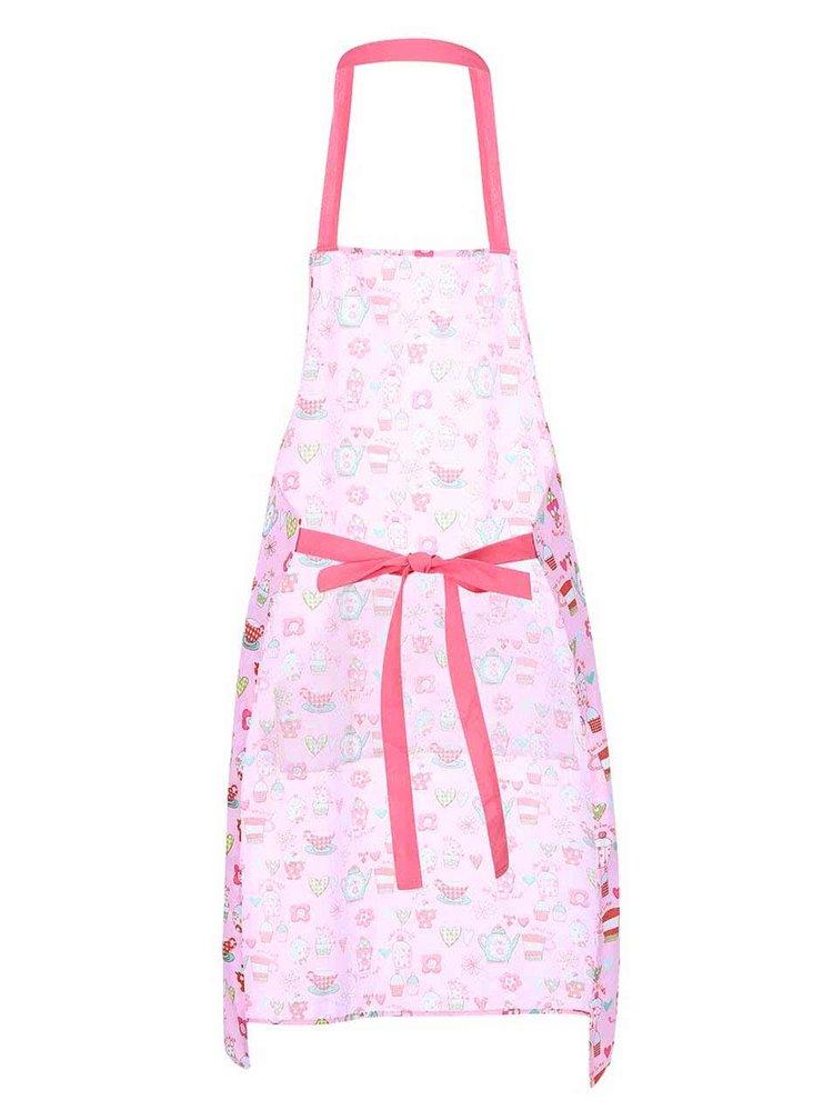 Růžová kuchyňská zástěra Cooksmart Cupcakes
