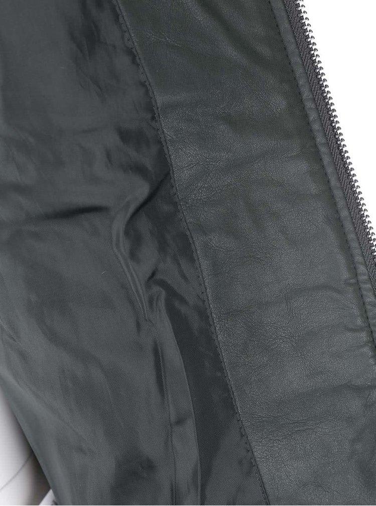 Zelená prošívaná koženková bunda Dorothy Perkins