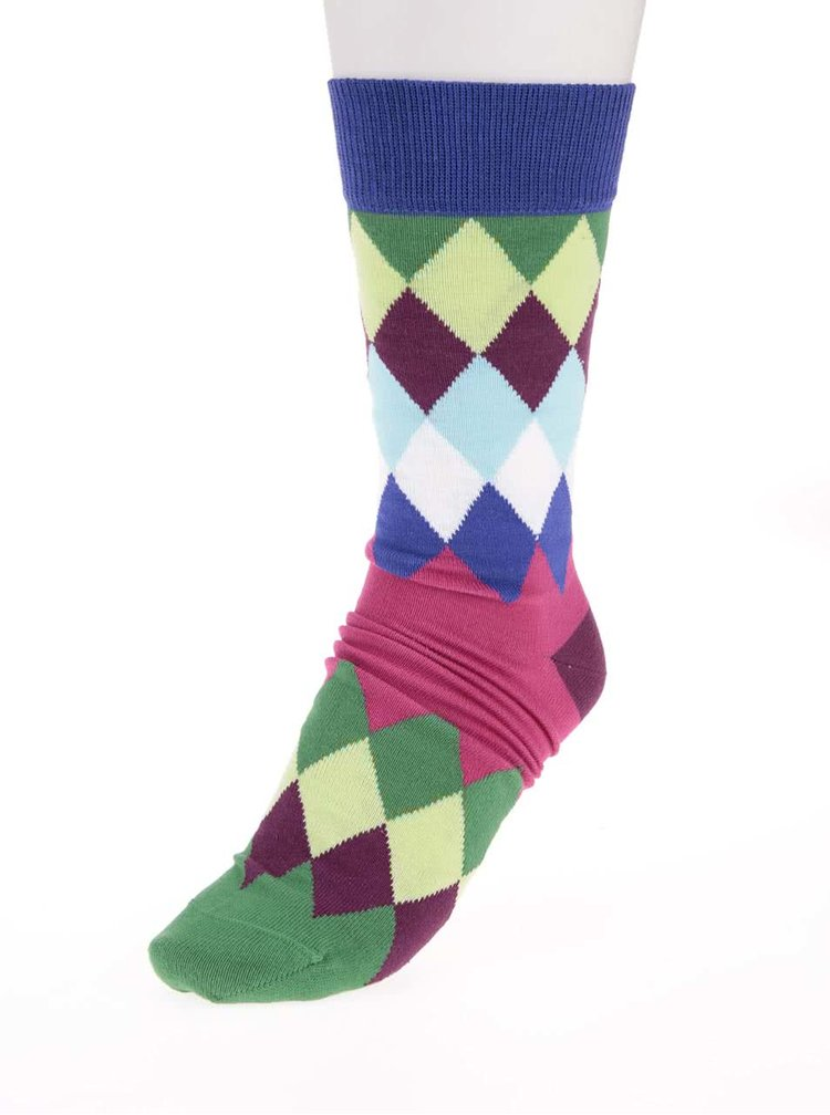 Sada šesti barevných pánských ponožek s golfovým vzorem Oddsocks Fore