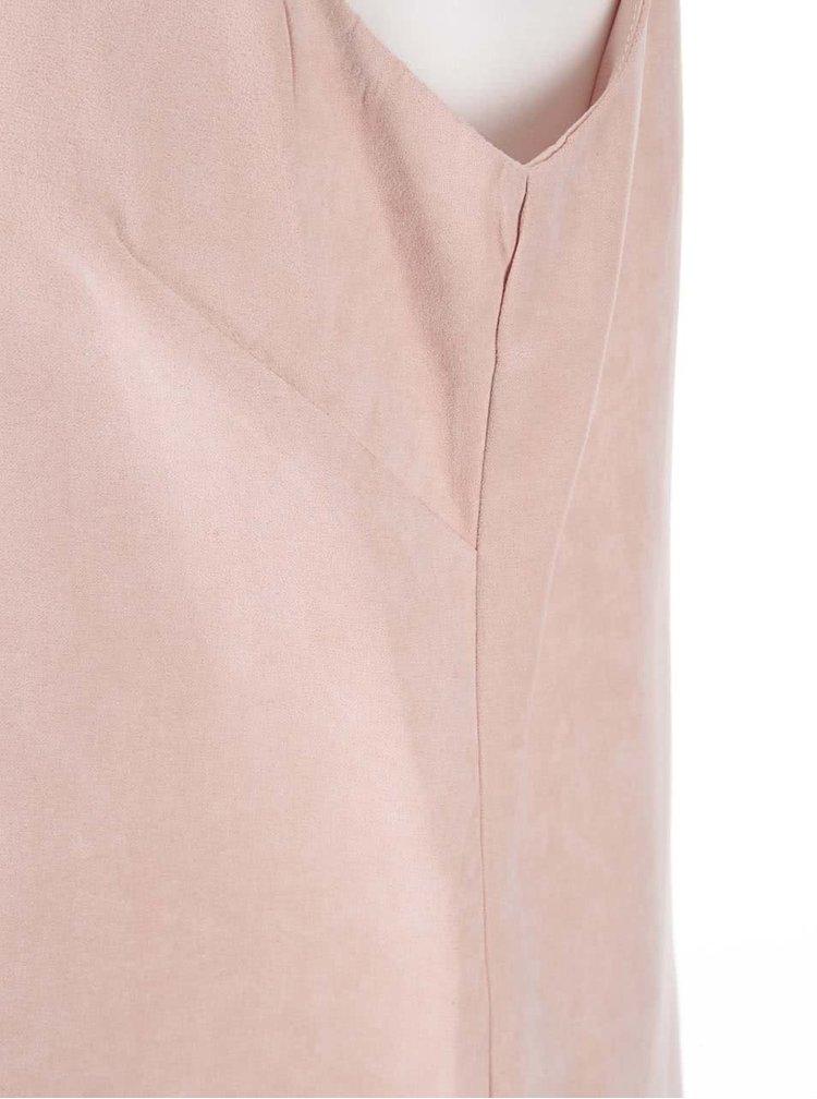 Pudrově růžová tunika bez rukávů Dorothy Perkins