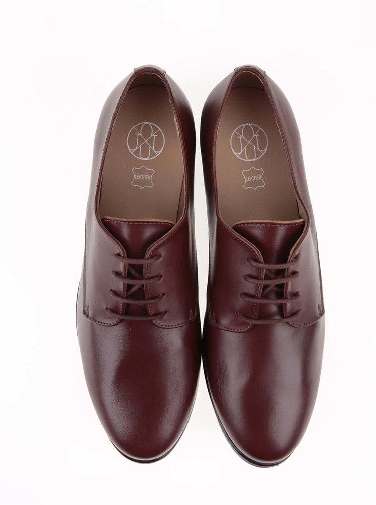 Pantofi Oxford din piele maro OJJU