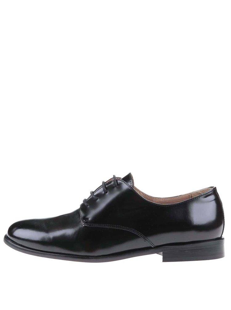 Pantofi negri din piele OJJU