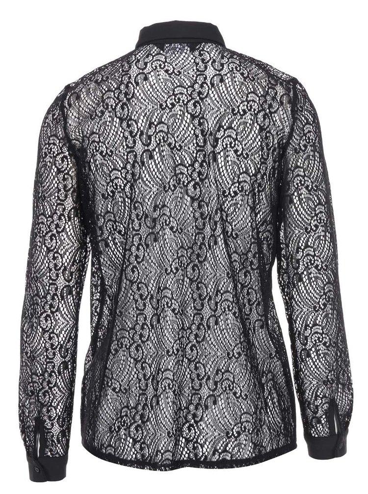 Bluză neagră din dantelă Dorothy Perkins