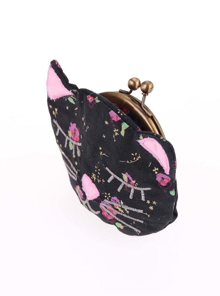 Čierna peňaženka v tvare mačičky Sass & Belle Phoebe
