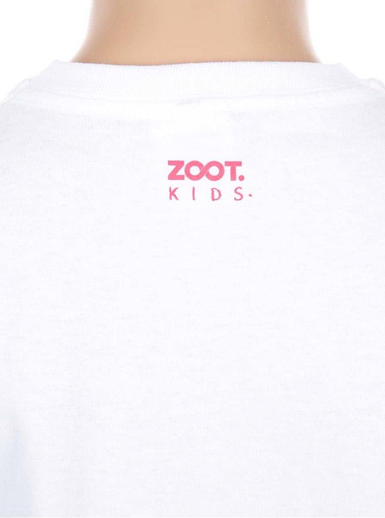 Biele dievčenské tričko ZOOT Kids Haha