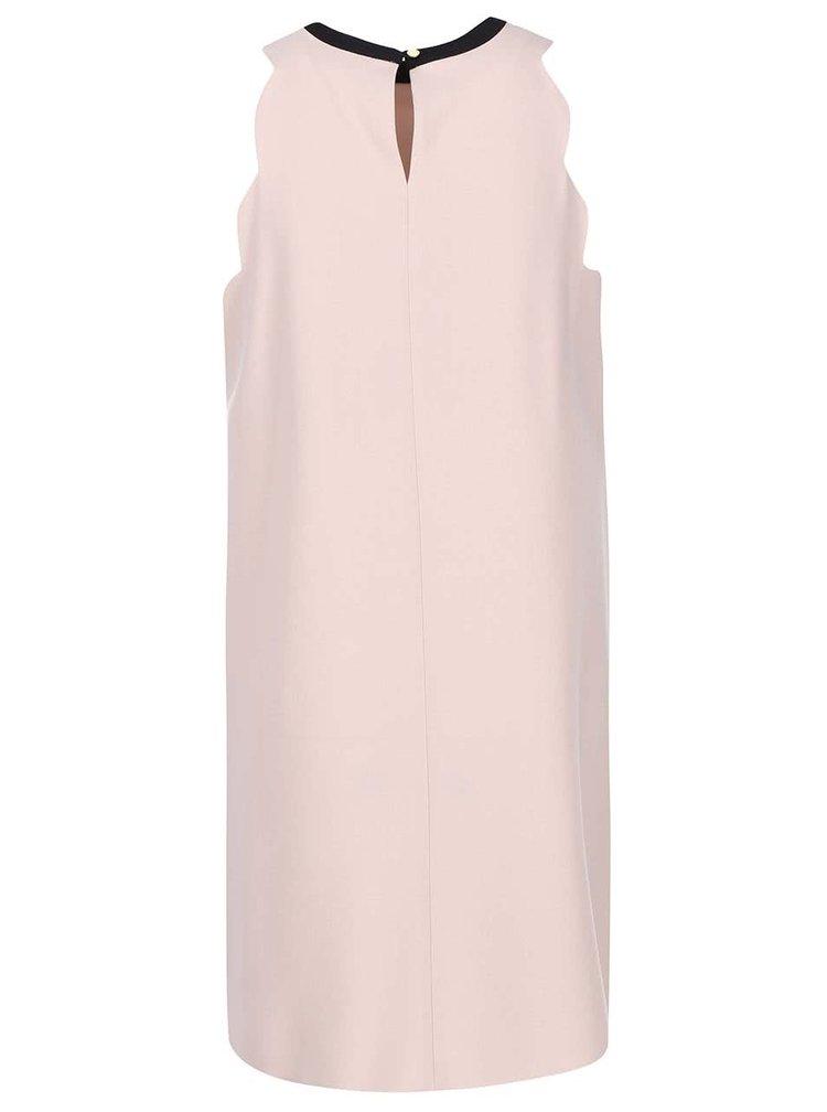Pudrově růžové šaty s vykrojenými rameny Dorothy Perkins