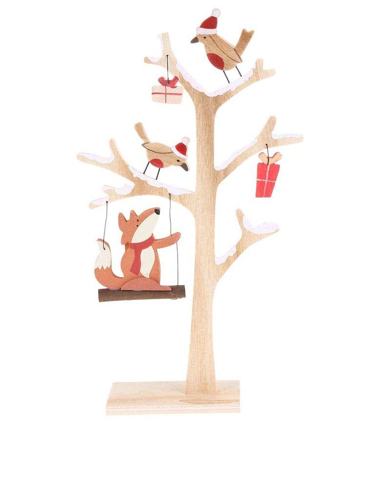 Dřevěný dekorativní strom s liškou Sass & Belle