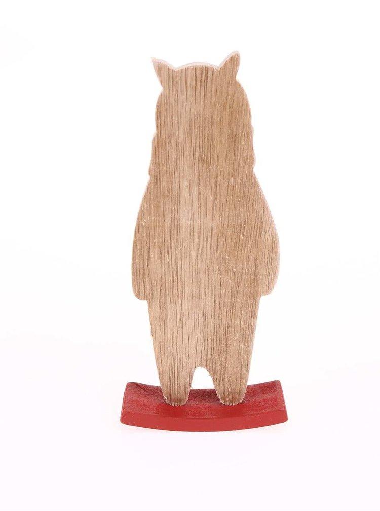 Dřevěný houpací medvěd se šálou Sass & Belle