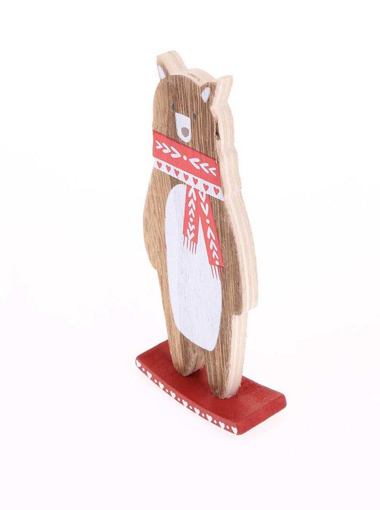Drevený hojdací medveď so šálom Sass & Belle