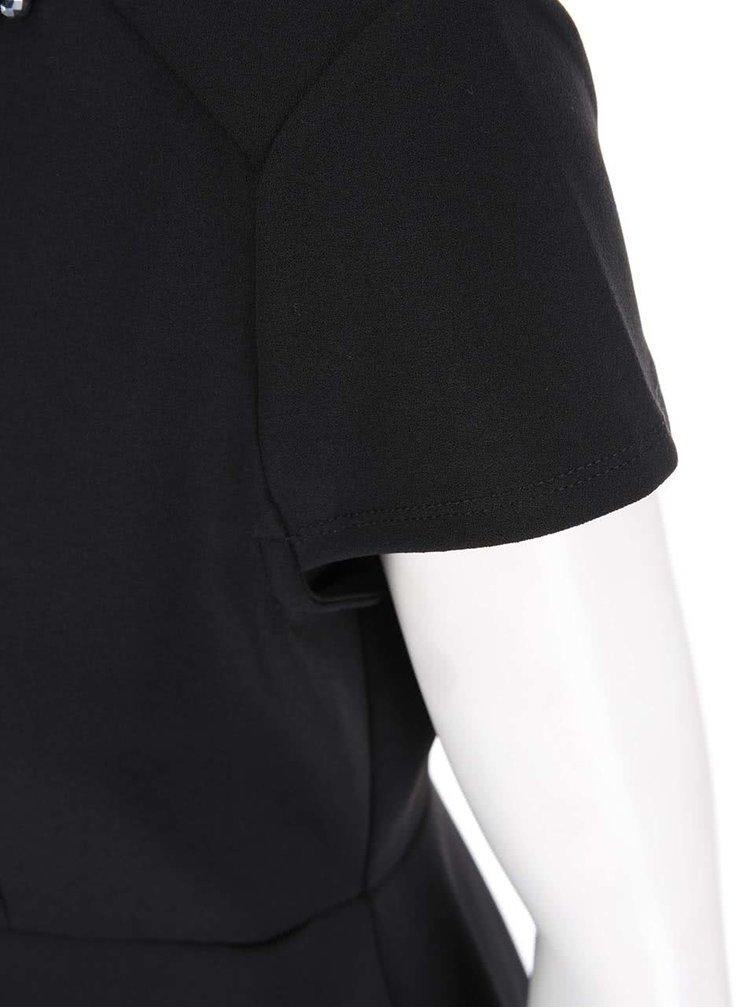 Černé šaty s náhrdelníkovou aplikací Dorothy Perkins