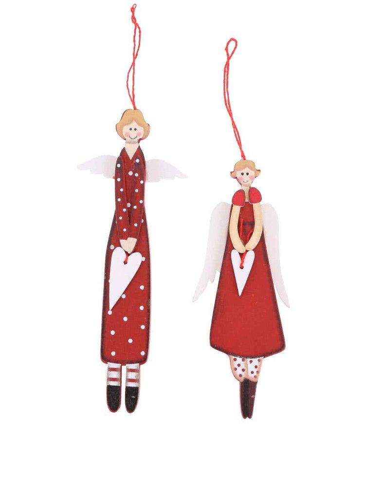 Sada dvou červených andělů Sass & Belle